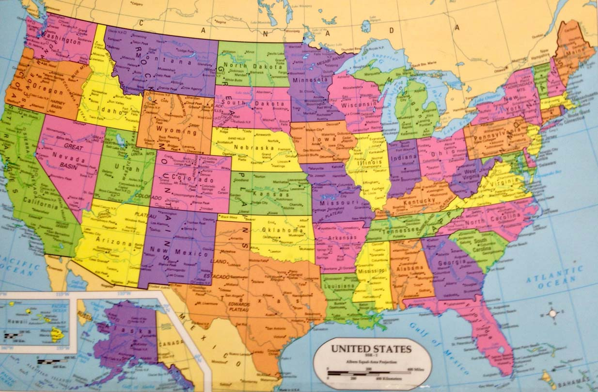 USA map small